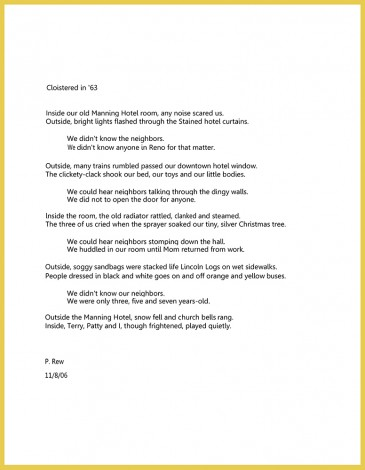 poem-Cloistered
